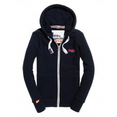 Superdry Orange Label Primary Ziphood Eclipse Navy WMN