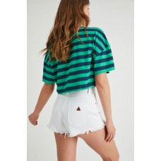 Abrand A High Relaxed Short White Wash