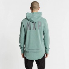 Nena and Pasadena Winchester Dual Curved Hoodie Pigment Teal